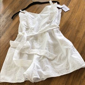 Guess White Eyelet Romper